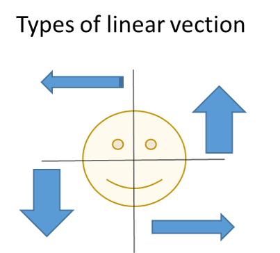 Diagram of linear self-motion direction